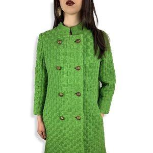 1950's EMIL. E OTTO apple green mock neck coat